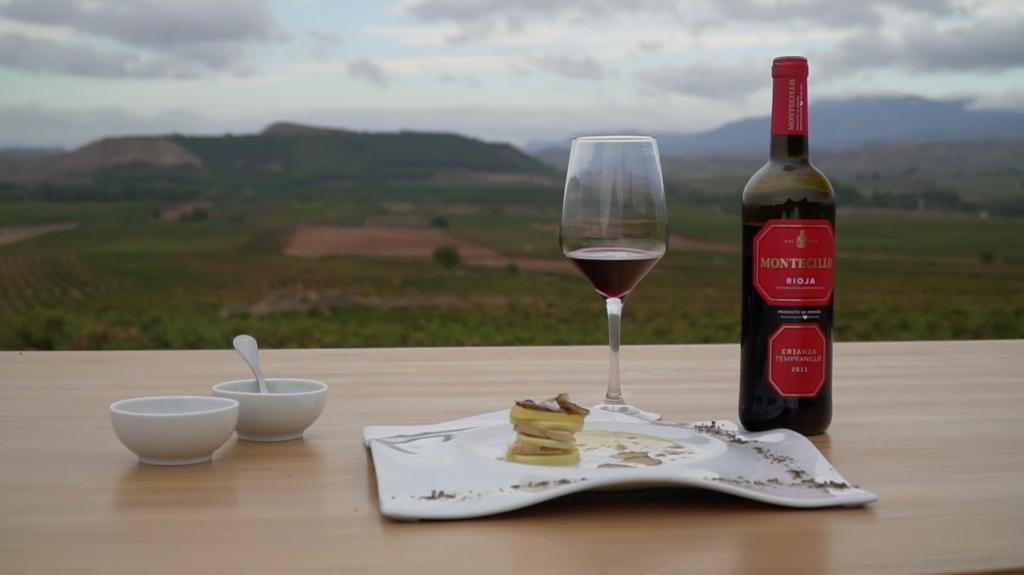 Recetario Riojano: Patata Laminada con Foie y Trufa maridado con Montecillo Crianza 2011