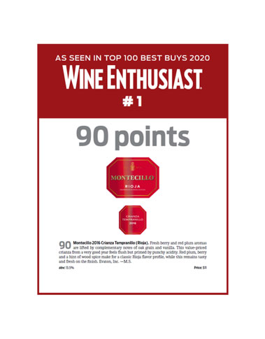 WINE ENTHUSIAST 90 POINTS